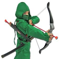 Iron Fist Halloween Costume Jungle Strike Ninja Costume Green Ninjago Archer Uniform Green