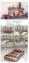 Free Wooden Potting Bench Plans by Ana White Collapsible Potting Table Diy Projects