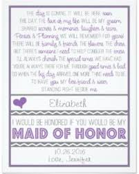 will you be my bridesmaid poem don t miss this deal will you be my of honor purple gray