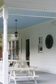Covered Porch Ceiling Material by Best 25 Haint Blue Porch Ceiling Ideas On Pinterest Blue Porch