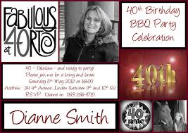 40th birthday invitations templates birthday invitations