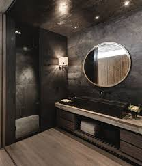Black Modern Bathroom Black Bathroom Free Home Decor Techhungry Us