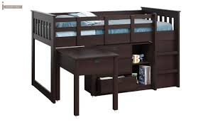 Buy Bed Online Buy Scrooge Kids Bed With Storage Mahogany Finish Online In