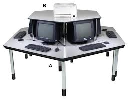 Recessed Monitor Computer Desk 95 Best My Dream Library And Office Images On Pinterest Cabinet