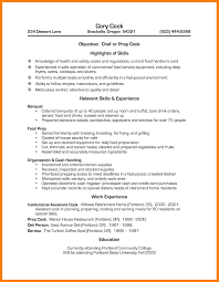 resume cv cover letter captivating 28 resume sample for cook job