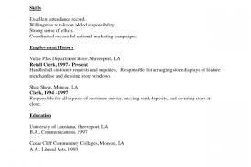 Sample Resume For Cashier Retail Stores by Sample Resume Fast Food Crew Reentrycorps