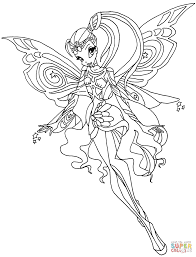 Winx Club Coloring Pages Stella winx club stella coloring pages free coloring pages