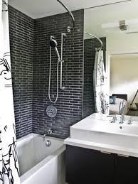 amazing white brick tiles bathroom idea home design