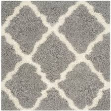 Square Area Rugs 7x7 Safavieh Dallas Shag Gray Ivory 8 Ft X 8 Ft Square Area Rug