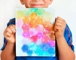 canvas painting ideas for kids using tissue paper canvas