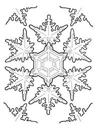 coloring pages snowflakes coloring