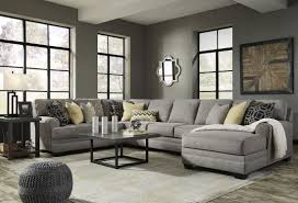cresson pewter raf large chaise sectional from ashley coleman