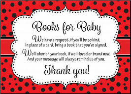 baby shower instead of a card bring a book books for baby cards printable black ladybug baby