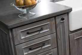 casual gray kitchen cabinets craft cabinetry weathered graywashing