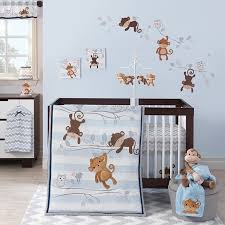 Boy Monkey Crib Bedding Bedtime Originals Mod Monkey 3 Bedding Set Baby
