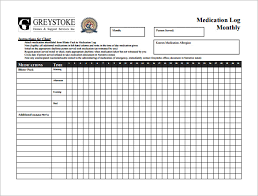 medication chart template u2013 8 free word excel pdf format