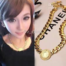 chunky gold necklace fashion images 2018 new fashion hip hop gold plating chunky necklace collar royal jpg
