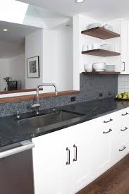 Modern Undermount Kitchen Sink by Green Penny Tile Backspash Kitchen Modern With Neutral Colors