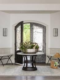 White Foyer Table Round Foyer Houzz