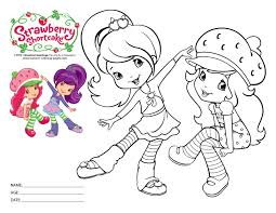 shortcake printables coloring pages
