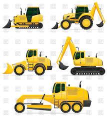 car equipment for construction works bulldozer excavator and