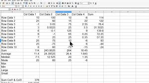 openoffice calc 4 tutorial 6 average median mode min max large