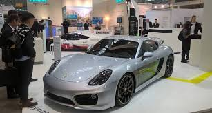 electric porsche porsche u0027s one off electric cayman may be a preview of its tesla