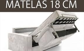 canape lit confort canapé convertible avec matelas de 18 cm