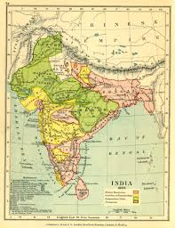India Physical Map by Gazetteer And Maps