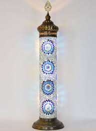 mosaic cylinder floor lamp blue lolo rugs and gifts