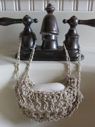 vintage antique victorian or beach style crochet soap and