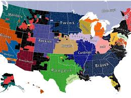 Milb Map Map Of Baseball Teams In Us Map Shows The Most Popular Mlb Team In