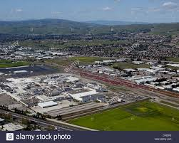 tesla factory aerial photograph tesla factory fremont alameda county