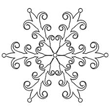 beautiful snowflake clip art coloring pages print
