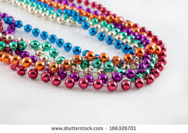 mardi gras bead necklaces mardi gras bead necklace stock images royalty free images
