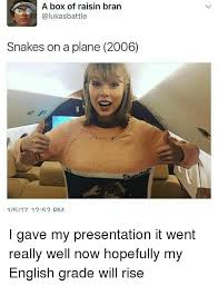 Snakes On A Plane Meme - a box of raisin bran alukasbattle snakes on a plane 2006 1517 1252