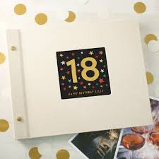 Cloth Photo Album Personalised 18th Birthday Cloth Bound Photo Album With Box