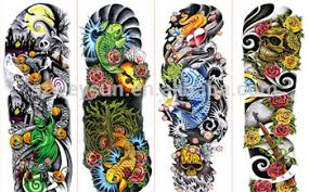 full arm tattoo stickers large flower shoulder fake tattoos