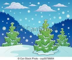 theme line winter winter season theme image 1 eps10 vector illustration clipart