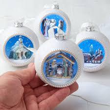 diorama ornament set ornaments