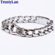 aliexpress buy new arrival cool charm vintage trustylan fashion new stainless steel charm bracelet men vintage