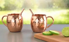 moscow mule mugs artisan s anvil copper moscow mule mugs set of 2 with straws