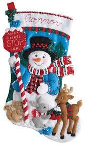 bucilla kits santa stop here bucilla christmas kit