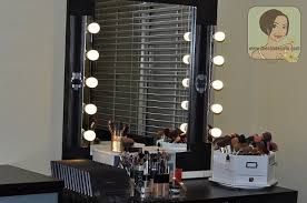 Diy Vanity Table My Makeup Vanity Set Up With Diy Lighted Mirror The Shades Of U