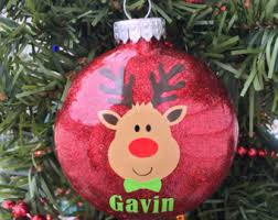 Blank Ornaments To Personalize Reindeer Ornament