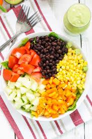 Good Salad For Thanksgiving Black Bean Salad With Avocado Dressing Recipe Popsugar Latina