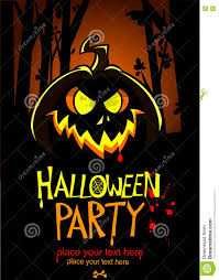 halloween design template pumpkin head and place for text vector