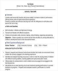 Online Instructor Resume Teacher Resume Format Teachers Professional Resumes Provides