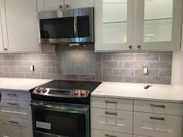 Wall Tiles Kitchen Backsplash Kitchen Backsplash Tile Bulevar Grey Ceramic Wall Tile 4 X 12