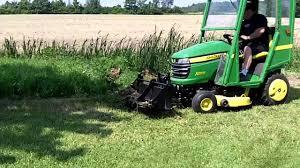 john deere x300 u0026 40 inch tractor shovel youtube